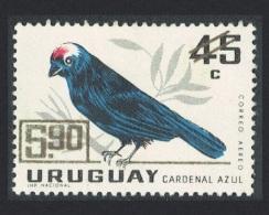 Uruguay Diademed Tanager Bird 1v 45c Overprinted $5.90 MH SG#1343 SC#C320 - Uruguay