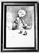 """LITHOGRAPHIE- DESSIN   De Claude SERRE - MEDECINE """"  INSOMNIE   INSOMNIE..... .     """" Humour Noir Et Hommes En Blanc   * - Lithographies"""