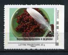 "Groseilles épépinées A La Plume Adhésif Neuf ** . Collector "" La Lorraine ""  2009 - Collectors"