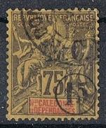 NOUVELLE-CALEDONIE N°57  Variété Surcharge à Cheval - Gebraucht