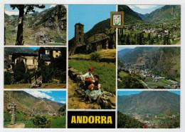 ANDORRA   PRECIOSO  PAISATGES  DE LES  VALLS D' ANDORRA   2 SCAN         (VIAGGIATA) - Andorra