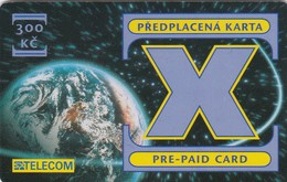 Czech Rep., X Pre-Paid Card, Globe, Exp. : 09/2002, 2 Scans.