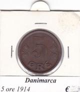 DANIMARCA   5 ORE  1914  COME DA FOTO - Danimarca