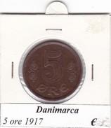 DANIMARCA   5 ORE  1917  COME DA FOTO - Danimarca