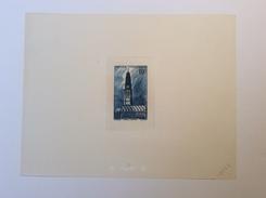 """France 1942 RARE ÉPREUVE D' ATELIER DE COULEUR """"1102"""" Du Yv. 567 10f Beffroi D' Arras (architecture) - Unused Stamps"""