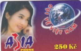 Czech Rep., 250 Kc, Asia Phone, Woman, 2 Scans.