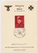 1941, Führer - Geburtstag - Gedenk - Blatt ,  #7913 - Deutschland