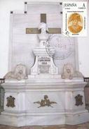 ESPAÑA 2001. TARJETA MAXIMA DEL GENERAL RAFAEL MENACHO  (MILITAR) - Cartes Maximum