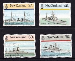 New Zealand 1985 Naval History Set Of 4 Used - New Zealand