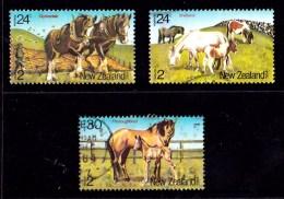 New Zealand 1984 Health - Horses Set Of 3 Used - New Zealand