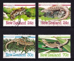 New Zealand 1984 Reptiles & Amphibians 4V Used - Used Stamps