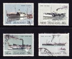 New Zealand 1984 Vintage Transport - Ships Set Of 4 Used - Used Stamps