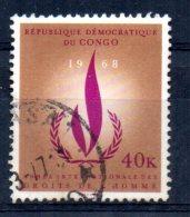 Congo - 1968 - 40k Human Rights Year - Used - République Démocratique Du Congo (1964-71)