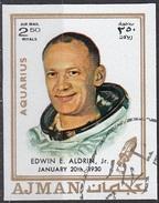 791 Ajman 1971 Apollo 11  Edwin Eugene Aldrin, Jr.(BUZZ ) - Zodiaco Acquario Aquarius -  Imperf. Zodiac - Astrologia