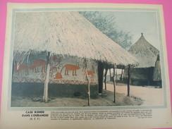 Grde Image Pédagogique/31 X 24 Cm/France D'Outremer/Case Ronde De L'Oubangui  ( AEF) / G Lang/Vers 1950  GRAV221 - Vieux Papiers