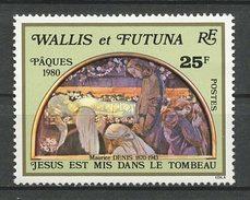 WALLIS FUTUNA 1980 N° 258 ** Neuf MNH Superbe Cote 1.80 € Pâques Peintures Paintings Denis Tableaux Jésus Tombeau