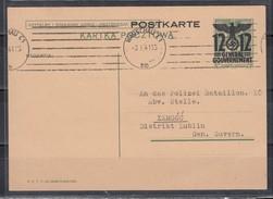II.WK Generalgovernement Ganzsache MiNo. P 6II Maschinen-Band-o Warschau C1/3.1.41 - Besetzungen 1938-45