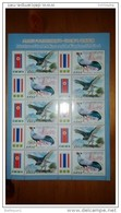 2015 North Korea Joint Thailand Stamps Sheetlet Birds - Corea Del Nord
