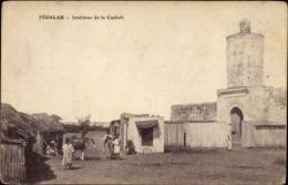 Cp Fedalah Marokko, Intérieur De La Casbah, Esel, Festung, Strohhütten - Maroc