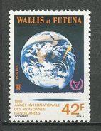 WALLIS FUTUNA N° 274 ** Neuf MNH Cote 2 € Superbe Année Handicapés Globe