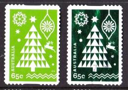 Australia 2014 Christmas 70c Tree Normal & Embellished Self-adhesives Used - 2010-... Elizabeth II