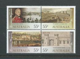 Australia 2010 Governor Macquarie Set Of 4 In Block Format MNH - 2000-09 Elizabeth II