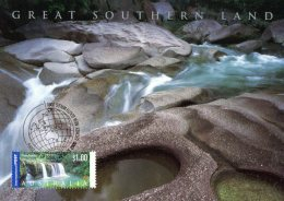 Australia 2000 Great Southern Land $1 Nandroya Falls, Queensland International Maximum Card - Cartas Máxima