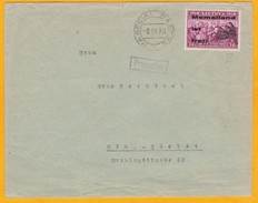1939 Enveloppe De Papegiai Pogegen, - Timbre 35 C De Lituanie De 1938 Surchargé Memelland Ist Frei - Lituanie