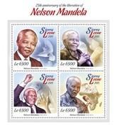SIERRA LEONE 2015 SHEET NELSON MANDELA NOBEL PRIZE Srl15101a - Sierra Leone (1961-...)
