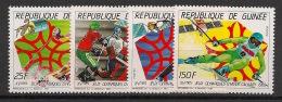 Guinée - 1987 - N°Yv. 821 à 824 - JO Calgary 88 - Neuf Luxe ** / MNH / Postfrisch