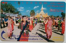 Laos Phonecard 200 Unit Dance Tamura Mint - Laos