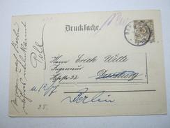 Berlin , Privatganzsache 3 Pfg. Krone ,   1897 Gestempelt - Ganzsachen