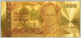 Thailand, 1000 Baht, Pick 115, Sign. 76, Goldbanknote ! - Thailand