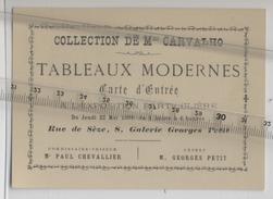 75 - PARIS - Collection CARVALHO - Tableaux  - Exposition  - Rue De Sèze - Galerie G. PETIT - 1890 - - 1800 – 1899