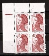 1982 - Variété - Absence De Perforation (Blind Zahn) - N° 2179 - Neufs ** - Type Liberté - Abarten Und Kuriositäten