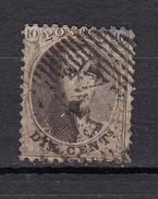 Belgique  Leopold 1er  Dentelé  10c Brun - 1863-1864 Medaillen (13/16)