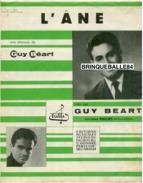 40-60 PARTITION GUY BÉART L'ÂNE 1957 PIANO GUITARE - Autres