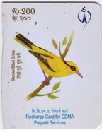 CDMA MOBILE PHONE PREPAID USED MINI RECHARGE CARD RS.200 NEPAL TELECOM 2012 NEPAL - Nepal