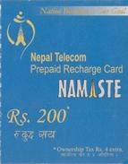 GSM MOBILE PHONE PREPAID USED MINI RECHARGE CARD RS.200 NEPAL TELECOM 2011 NEPAL - Nepal