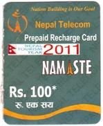 GSM MOBILE PHONE PREPAID USED MINI RECHARGE CARD Rs.100 NEPAL TELECOM 2012 NEPAL - Nepal