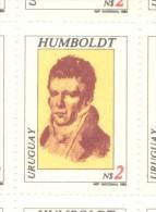 URUGUAY AÑO 1981 ALEXANDER VON HUMBOLDT EXPLORATEUR YVERT NR. 1070 MNH TBE  FILIGRANA F DENTADO 12 MNH TBE - Uruguay