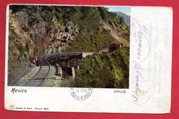 Mexique. Infiernillo. Mexico. Voie Ferrée Et Tunnel Ferroviaire. 1902 - Mexique