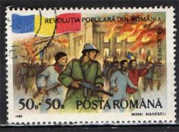 ROMANIA - 1990 - RIVOLUZIONE RUMENA DEL DICEMBRE 1989 - 1° ANNIVERSARIO - USATO - Gebraucht