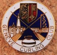 GENEVE CURLING CLUB  - SUISSE - JET D'EAU - CATHEDRALE -  BADGE - - Badges
