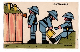 "MILITARIA . "" La Tranchée ""  ....."" PLAYMOBIL ? ""..... - Réf. N°1408 - - Non Classés"