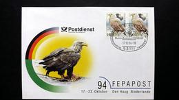 Deutschland BRD, FEPAPOST '94 Amtlicher Messebrief Nr. 3 Mit 2x Bund 1542 SST Bonn - [7] République Fédérale