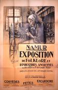 Namur-Superbe Affiche Originale De Namur Exposition Du Folklore D'Henri Bodart , Du 26 Juillet Au 7 Sept 1930 - Affiches