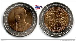 Thaïlande - 10 Baht 2012(13)  (100 Year Ministry Transport - UNC)(346034429) - Thailand