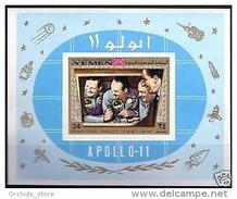 V25 Yemen Kingdom ROYALIST 1969 Mi Block 167 MNH S/S Space Exploration Apollo 11 - Yemen