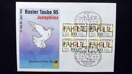 Deutschland BRD, JUNAPHILEX '95, Amtlicher Messebrief Nr. 9 Mit 4x Bund 1711 SST Bonn - Storia Postale